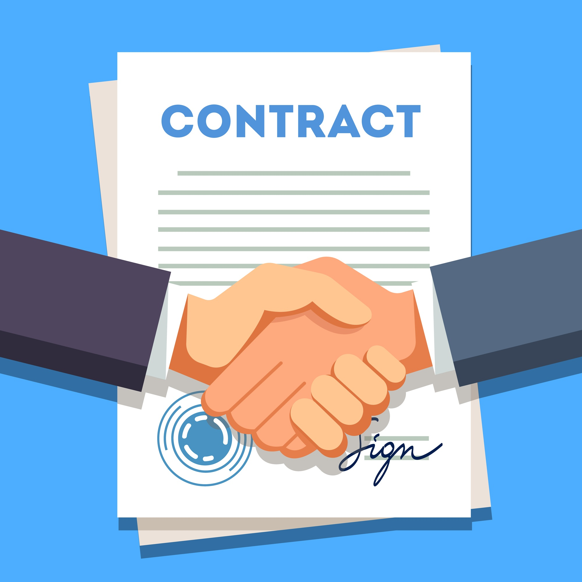 Content types for sales leads contract handshake