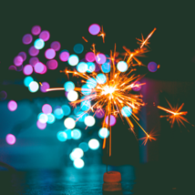 Digital Inbound Marketing Strategy - Sparkler of blurred coloured lights