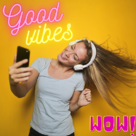 Digital Inbound Marketing Strategy - girl on head phones with yellow background