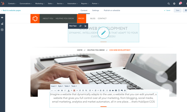 Editing HubSpot Templates