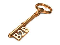 Digital Inbound Marketing Strategy - Golden Key on White Background. 3D Render B2B Business Concept.