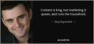 content is king but marketing is queen quote content audit increase your manufacturing organic Google rankings.