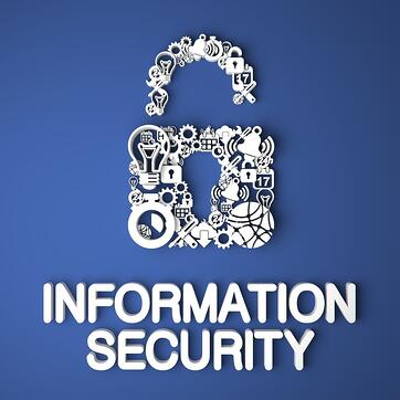 GDPR guide Information Security on Blue Background.